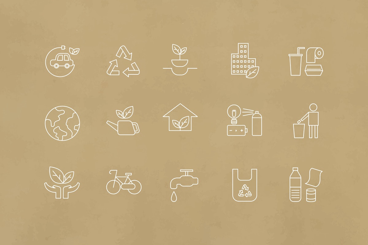 environment related icons in vector format